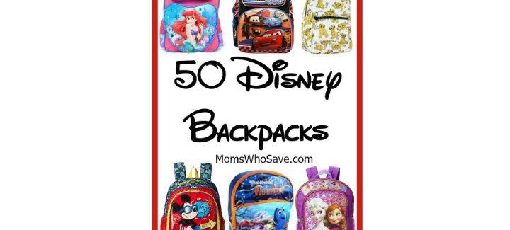 50 Disney Backpacks for Back-to-School