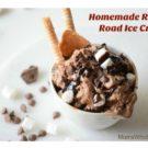 Homemade Rocky Road Ice Cream