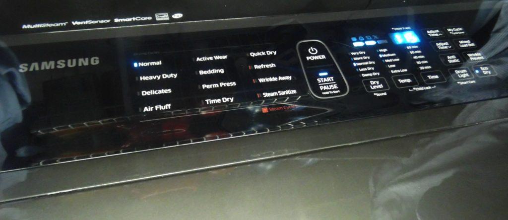 samsung dryer panel