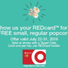 Free Popcorn at Target With Your REDCard