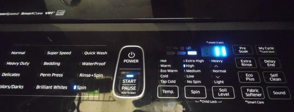 washer panel