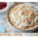 Delicious Cinnamon Roll Oatmeal (+ Easy Vegan Option)