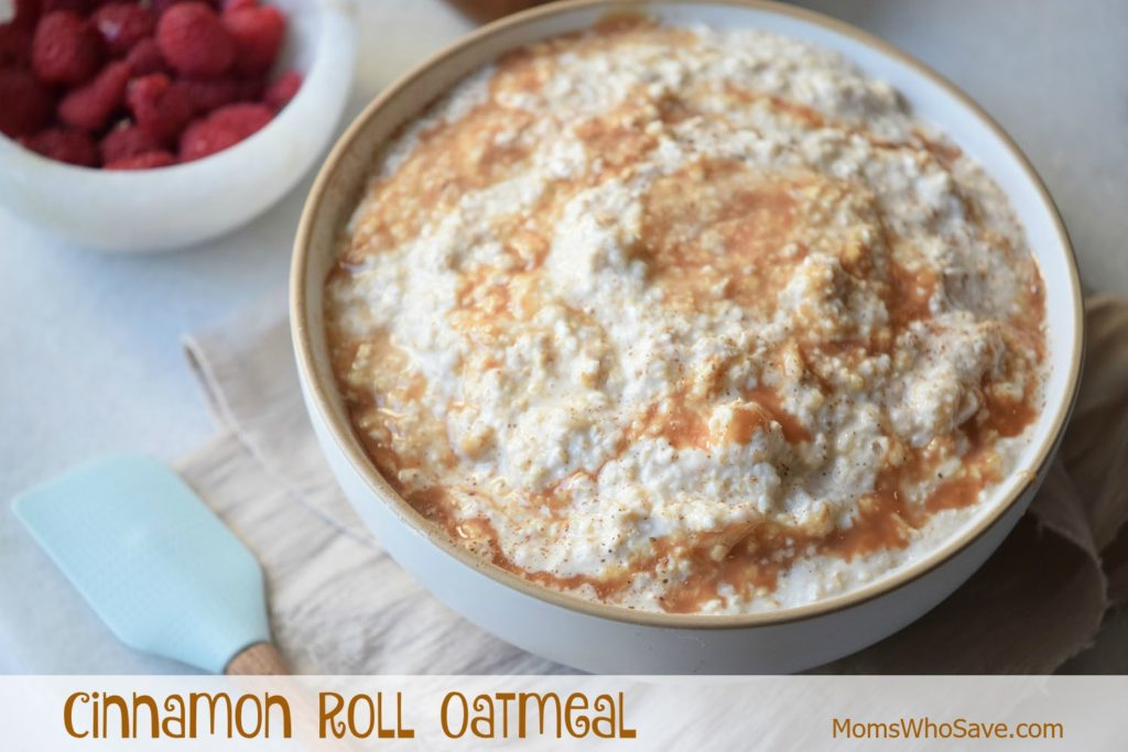 cinnamon roll oatmeal recipe
