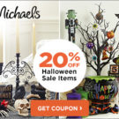 Print Your Coupon for 20% Off Halloween Floral & Decor at Michael's