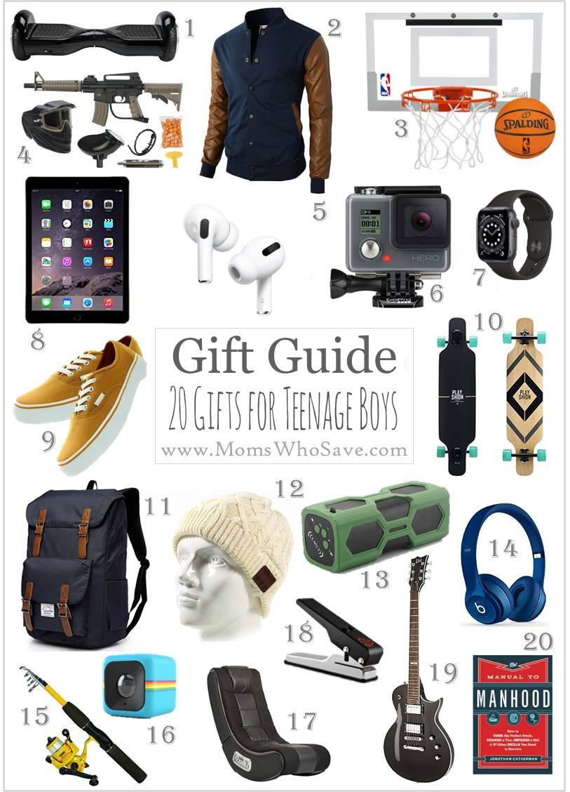 Gift Guide — 20 Great Gift Ideas for Teenage Boys | MomsWhoSave.com