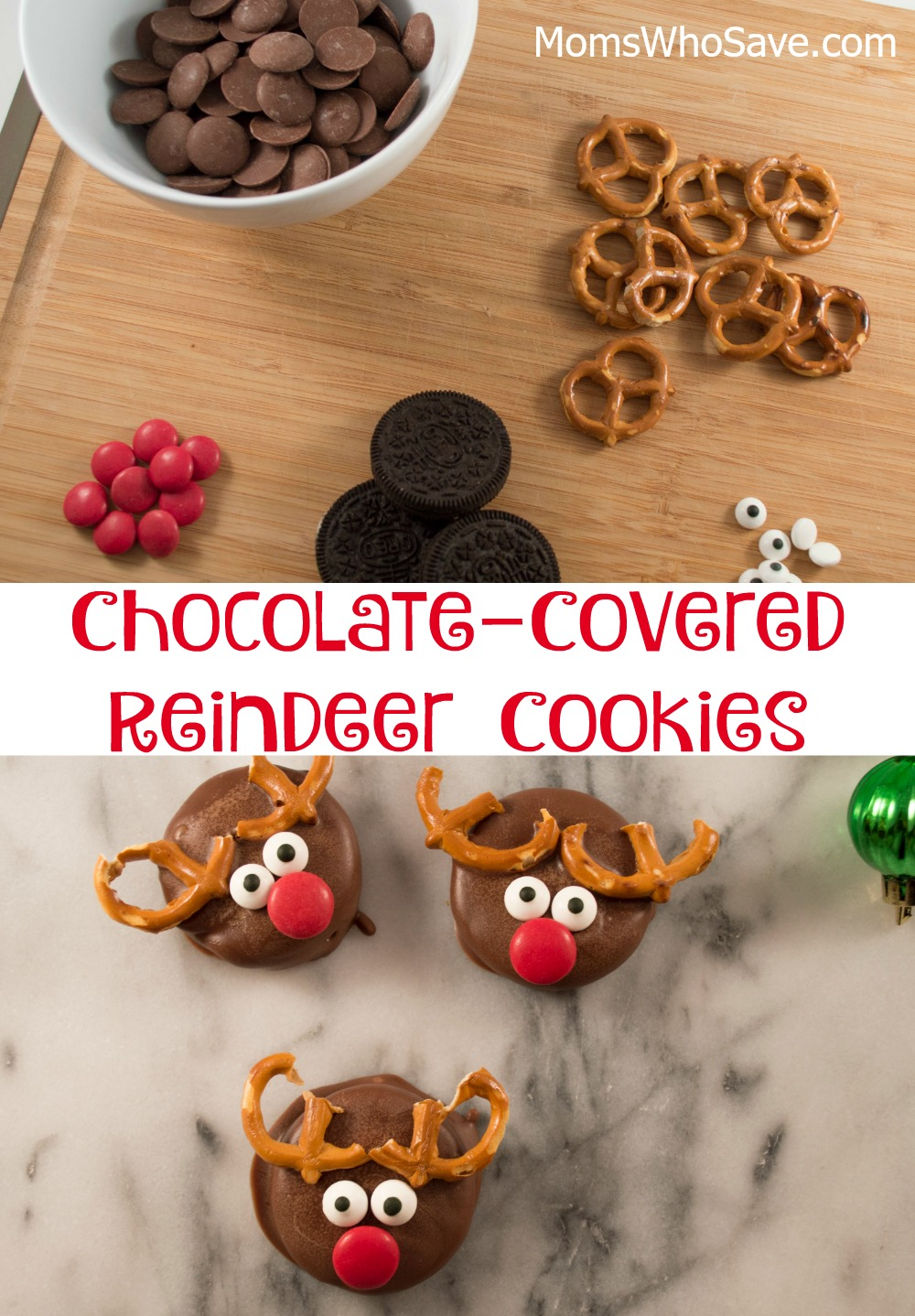 chocolate covered reindeer cookies