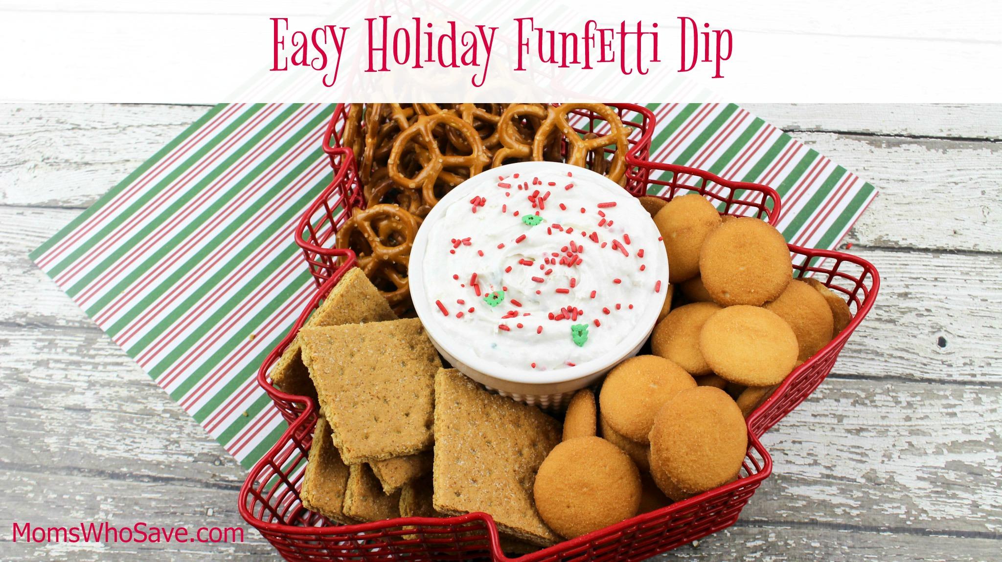 easy holiday funfetti dip