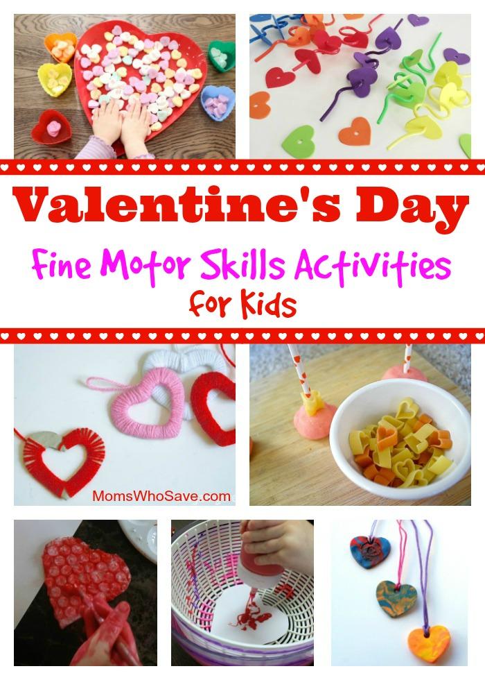 Valentine's Day Fine Motor Skills