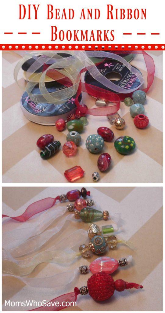 bead and ribbon bookmarks