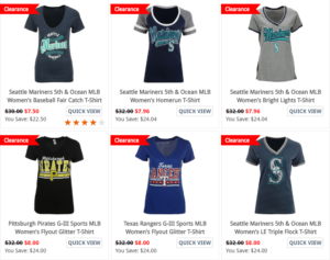 MLB Apparel Clearance Starting Under $10!