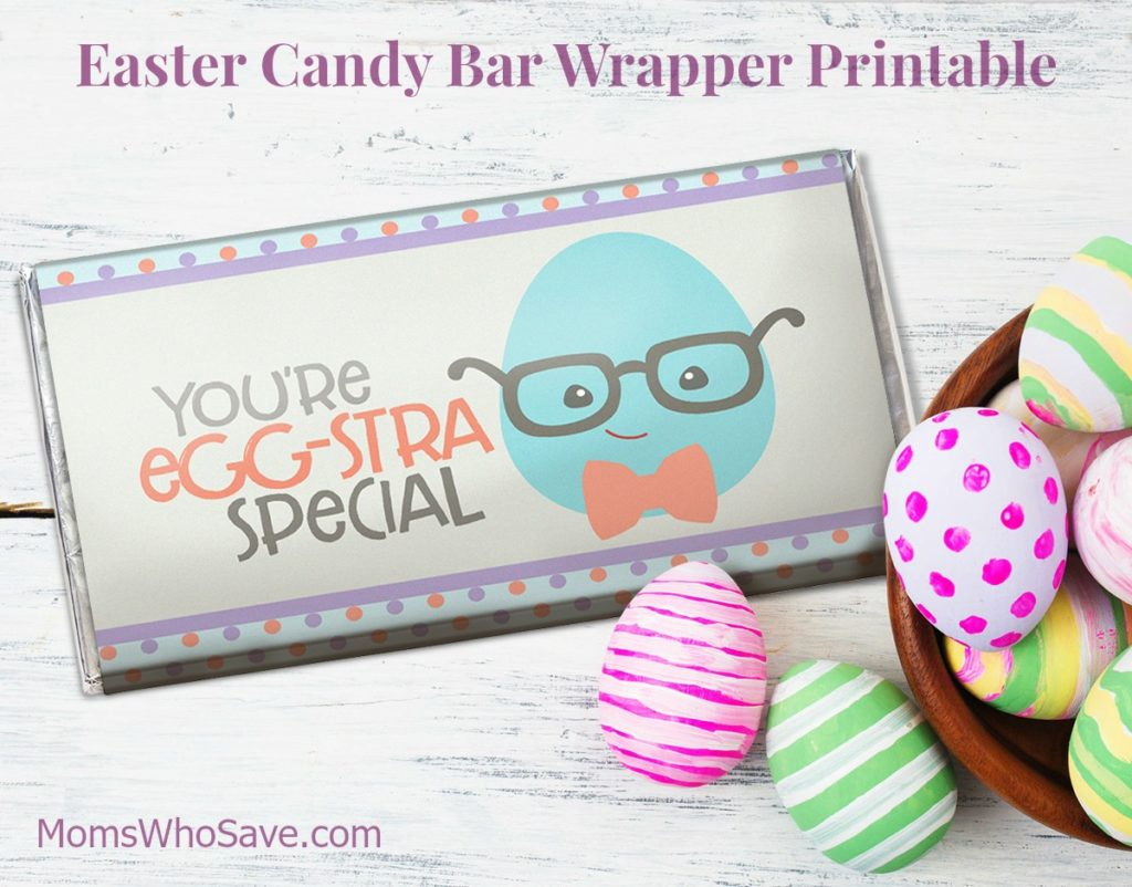 Easter Candy Bar Wrapper Printable