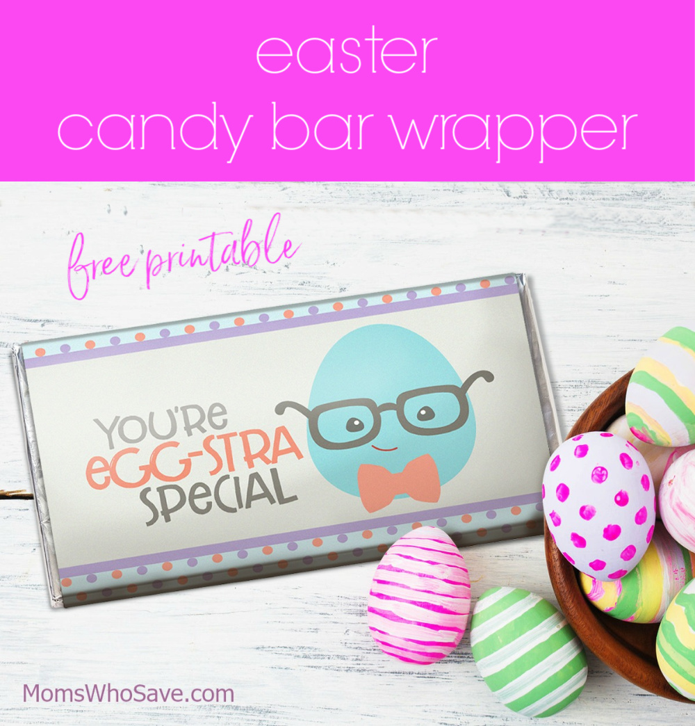 easter candy bar wrapper free printable