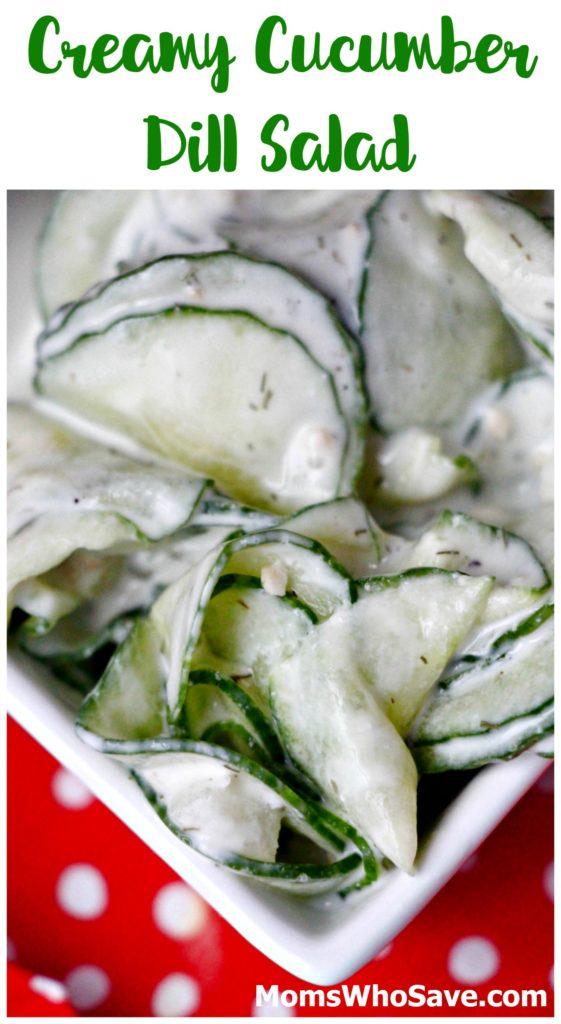 creamy cucumber dill salad v