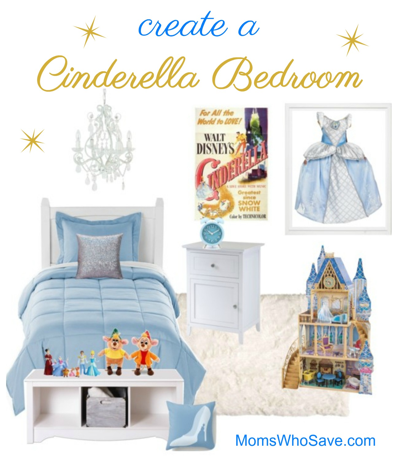 how to create Cinderella bedroom