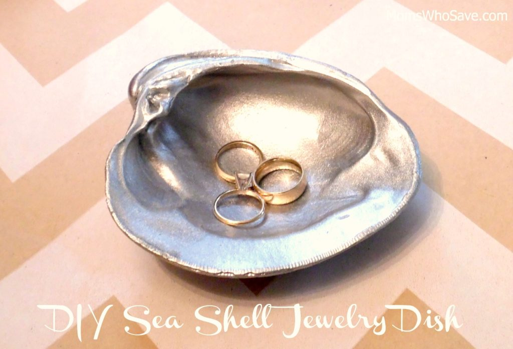 diy sea shell jewelry dish