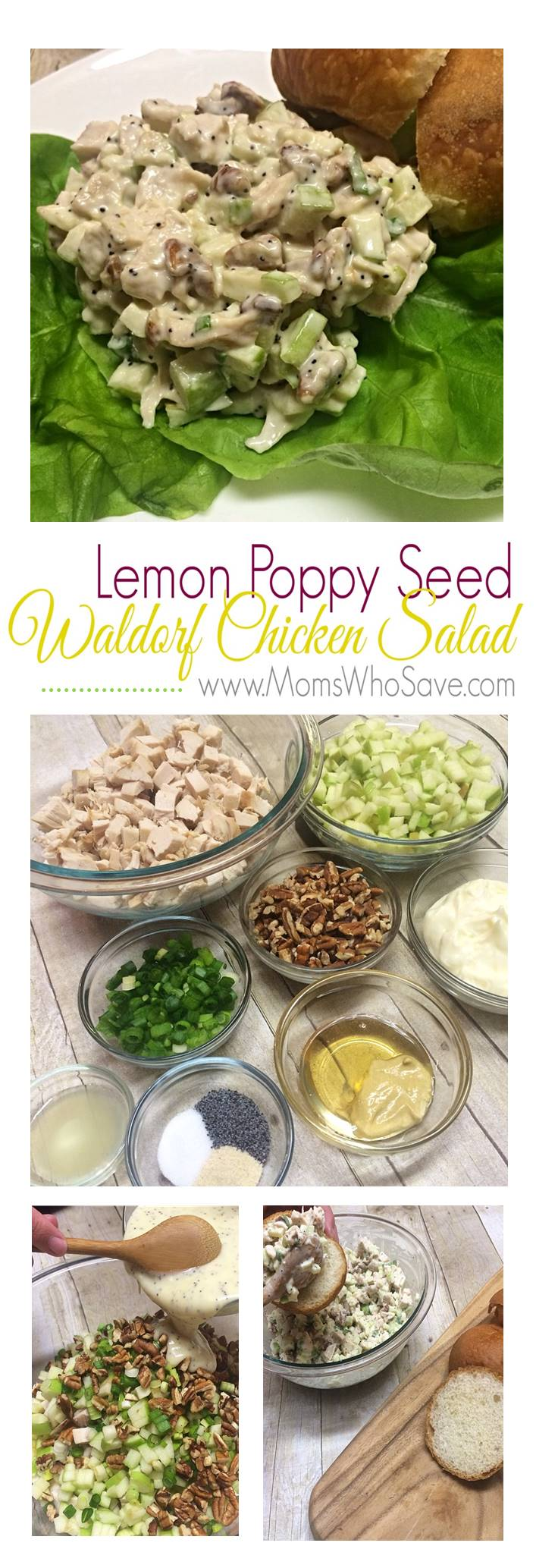 Lemon Poppy Seed Waldorf Chicken Salad