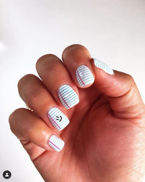nail art for back to school