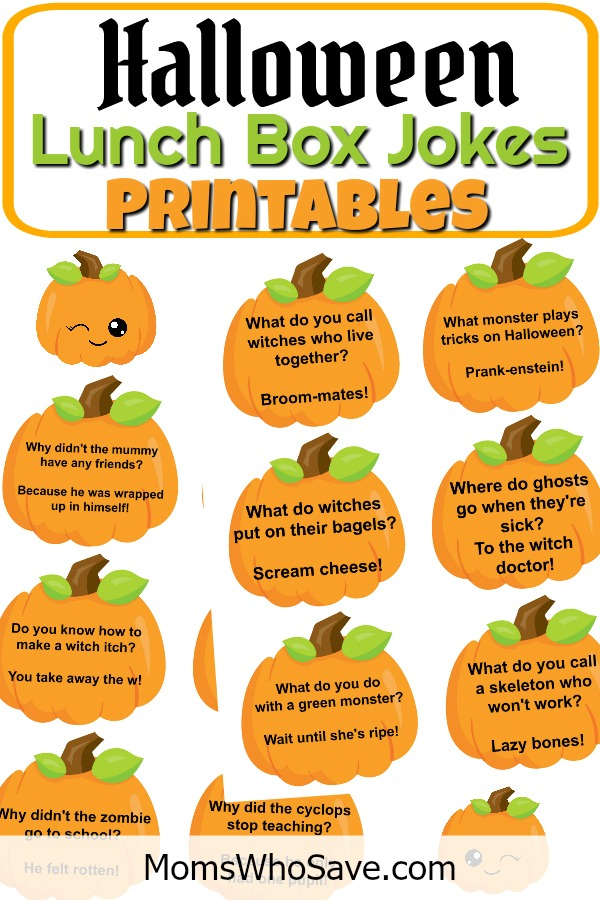 photograph about Lunch Box Jokes Printable called Totally free Halloween Lunch Box Jokes Printables