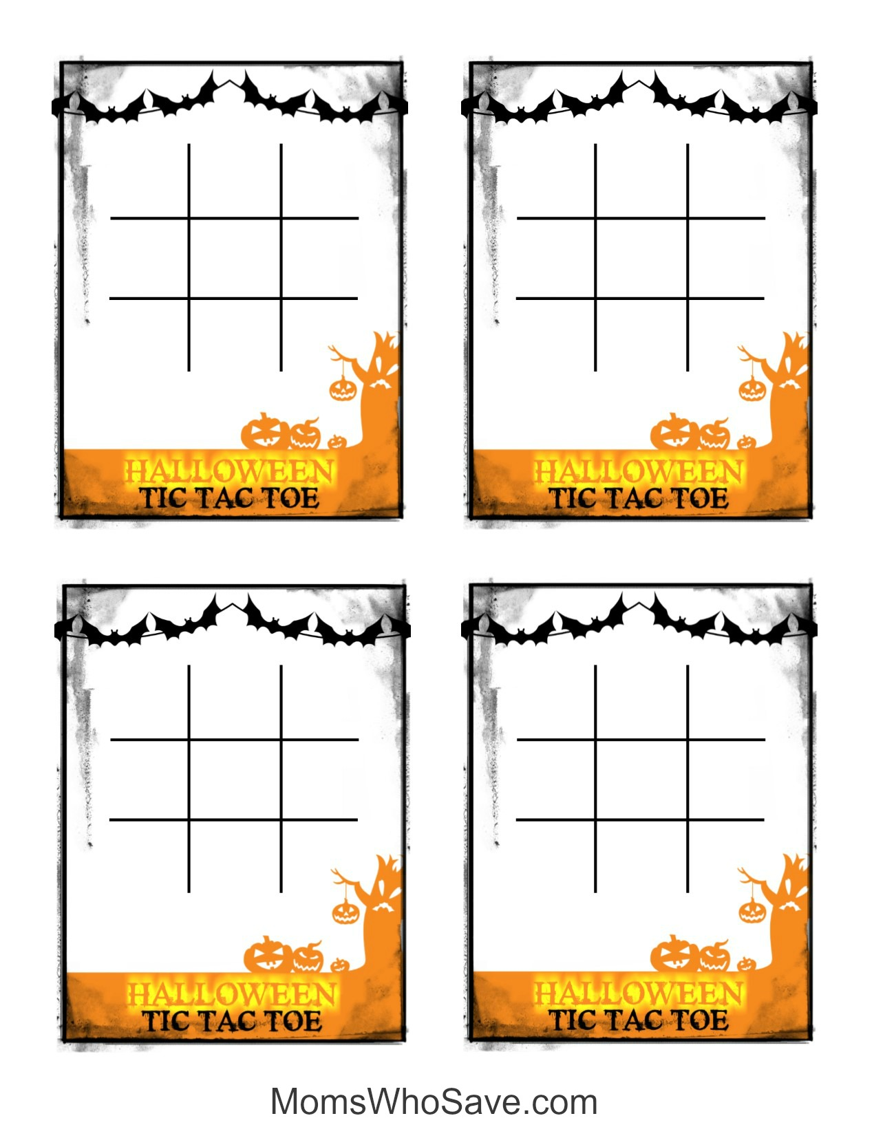 photo regarding Tic Tac Toe Board Printable referred to as Totally free Halloween Tic Tac Toe Printable Video game Playing cards