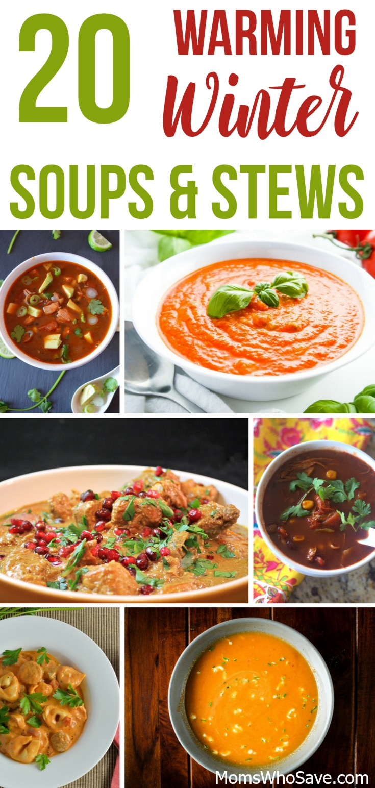warming winter soups and stews