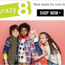 Crazy8 — 50% Off Your Entire Purchase + Free Shipping