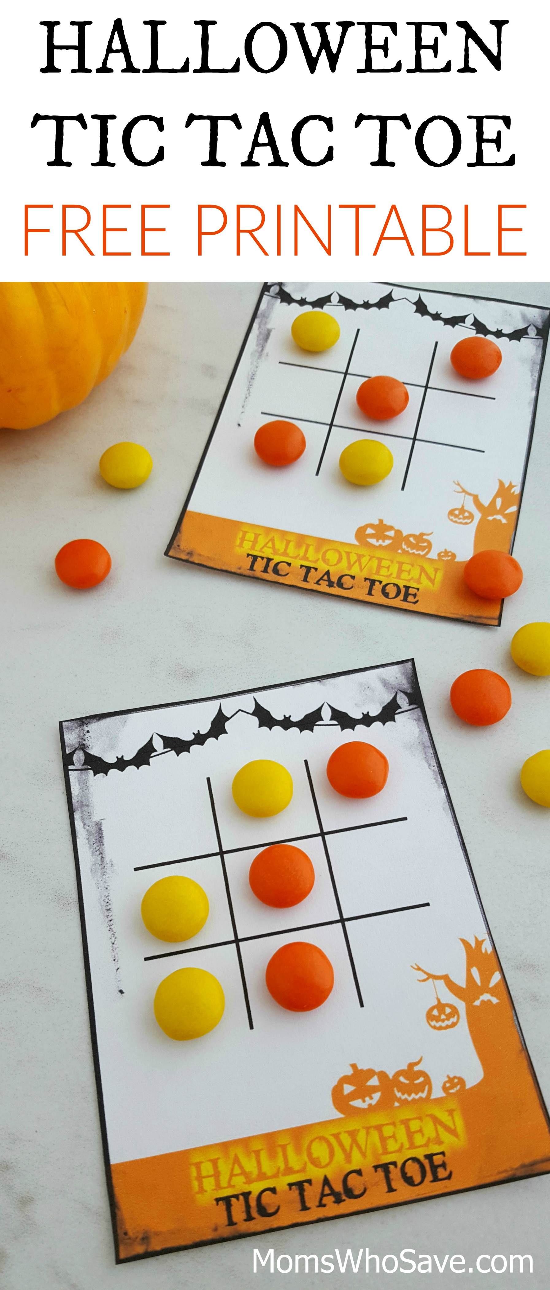 photo relating to Printable Game Pieces known as No cost Halloween Tic Tac Toe Printable Video game Playing cards