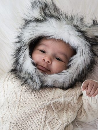 kids faux fur hats