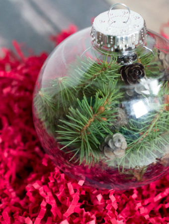 evergreen diy ornament
