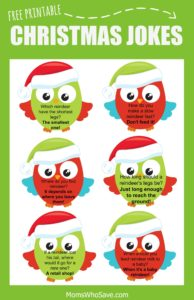 Free Christmas Lunch Box Jokes Printable