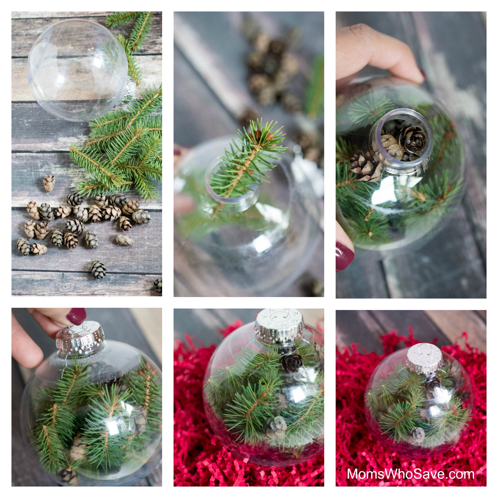 pine tree christmas ornament