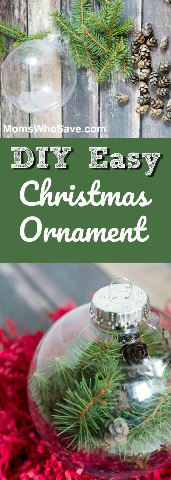 diy pine tree christmas ornament