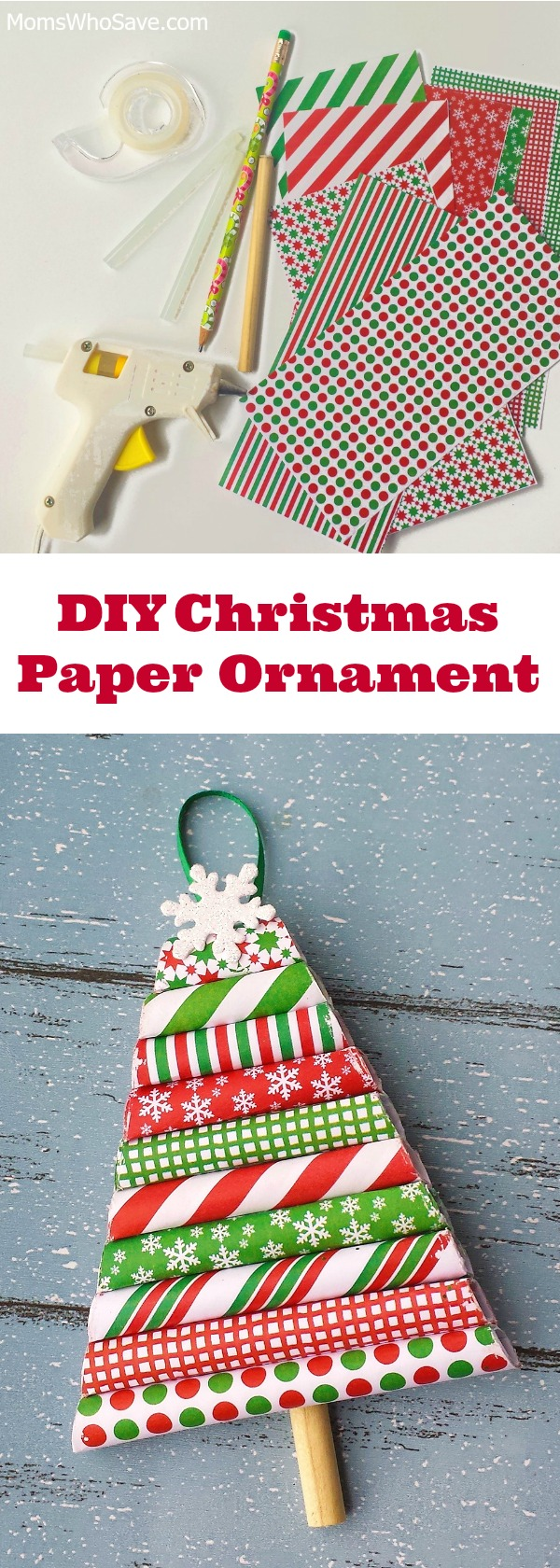ornament craft from wrapping paper