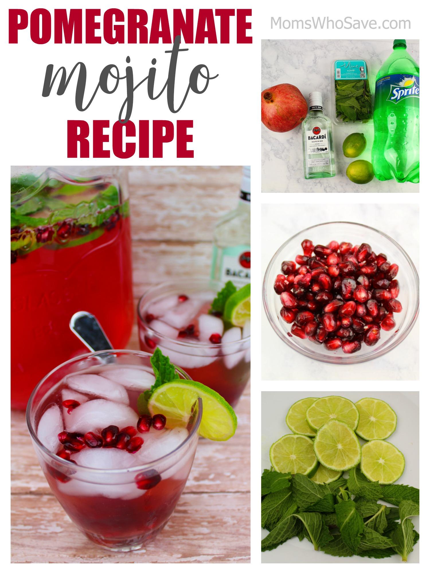 recipe for pomegranate mojitos