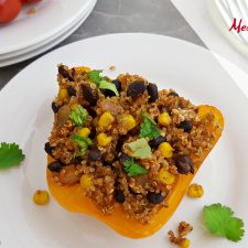 Mexican Stuffed Peppers with Quinoa & Black Beans (vegan and gluten-free)