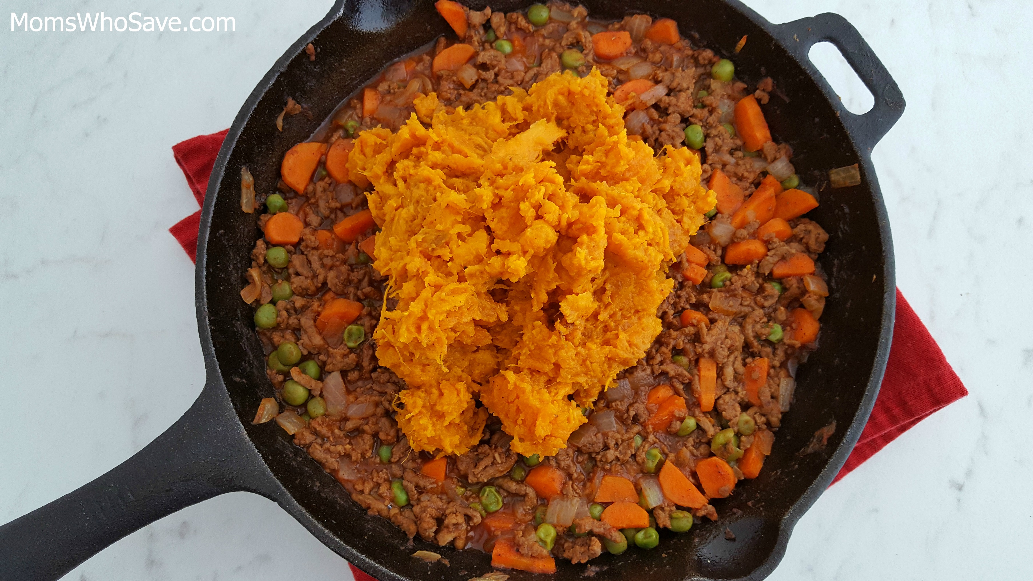 shepherd's pie with mashed sweet potato