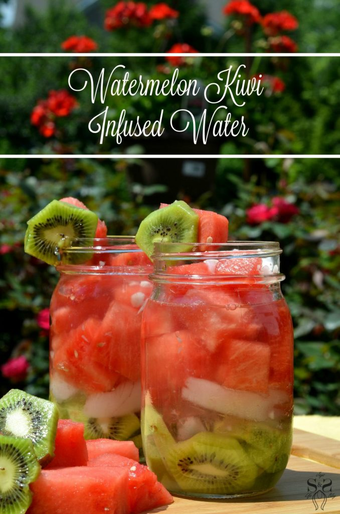 watermelon kiwi infused water recipe