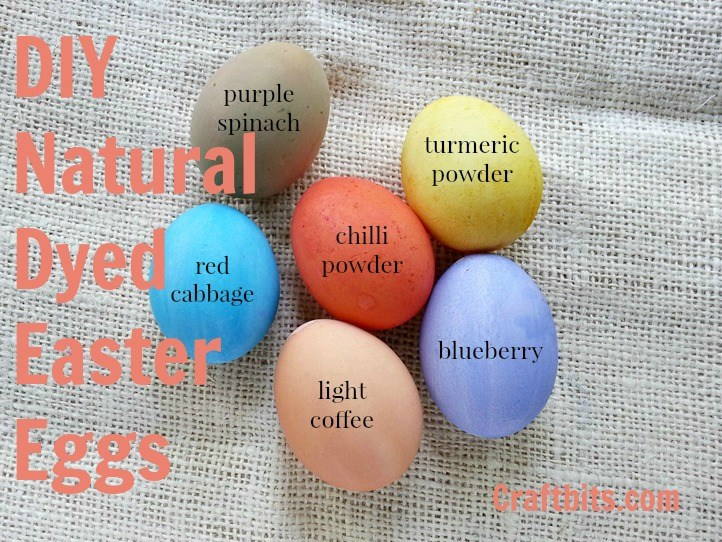dying easter eggs with natural dyes