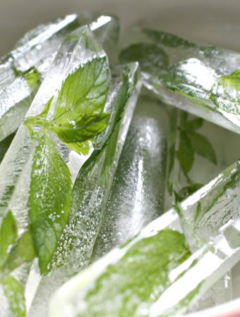 How to Make Fresh Mint Ice Cubes