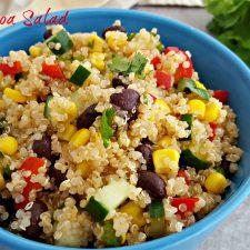 Fiesta Quinoa Salad Recipe (vegan and gluten-free)
