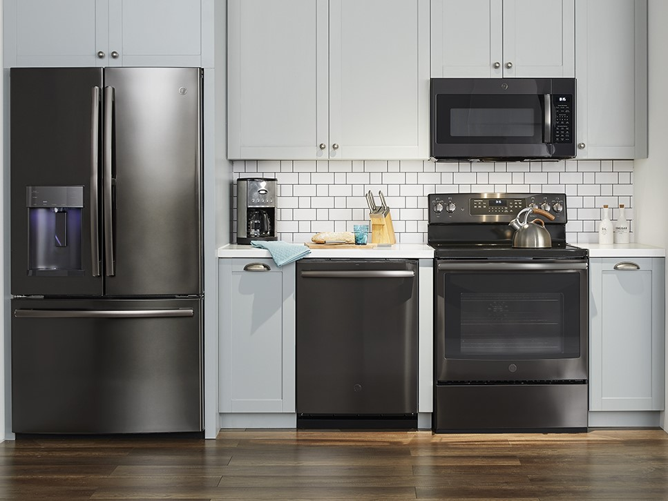 GE Black Stainless Kitchen appliances