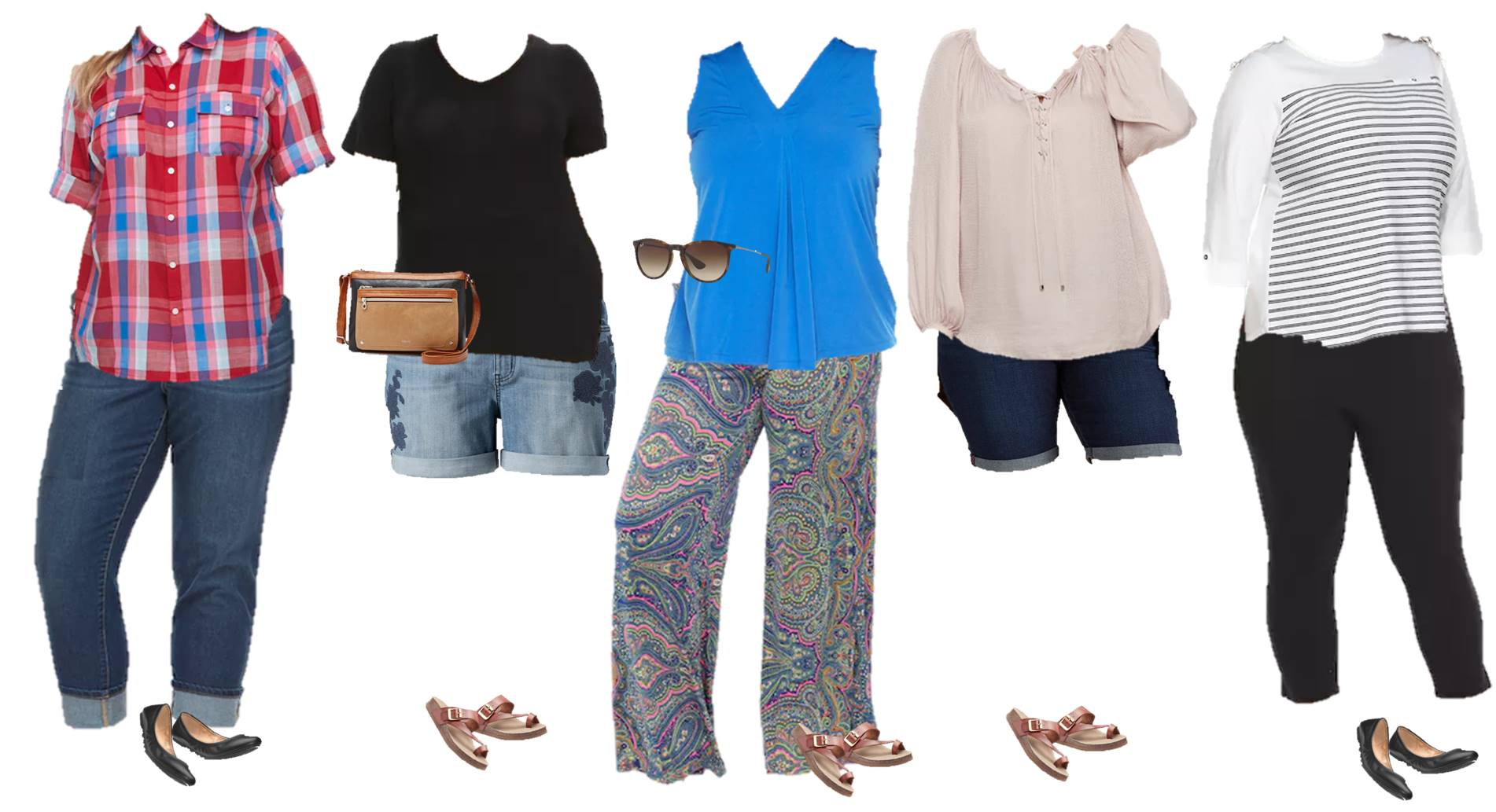 plus size capsule wardrobe from Kohls