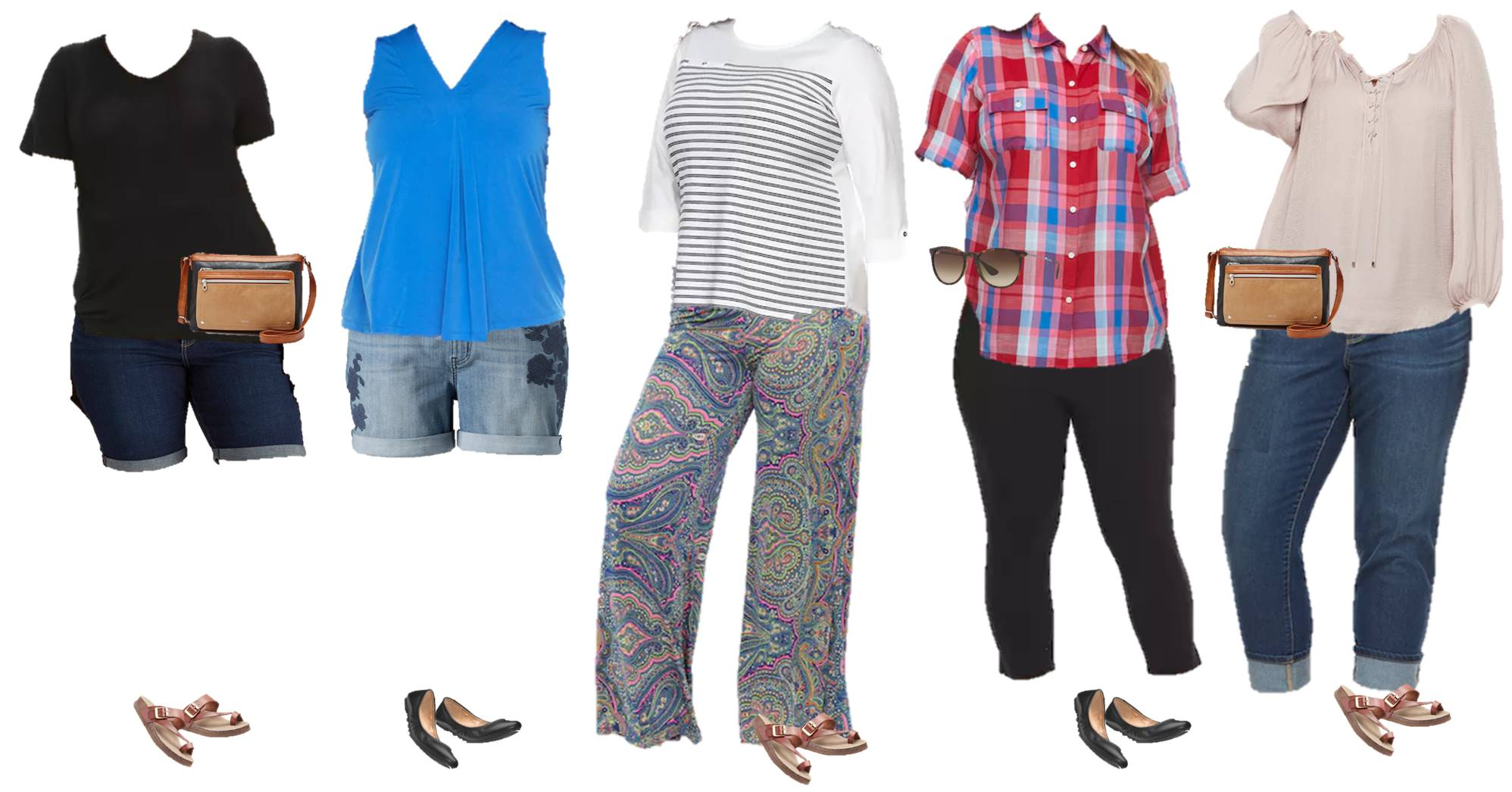 plus size capsule wardrobe for spring and summer