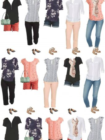 affordable spring capsule wardrobe