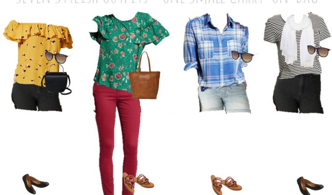 Packing Light for Summer Travel — 7 Outfits, 1 Carry-On Bag!