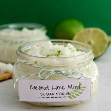 DIY Coconut Lime Mint Sugar Scrub