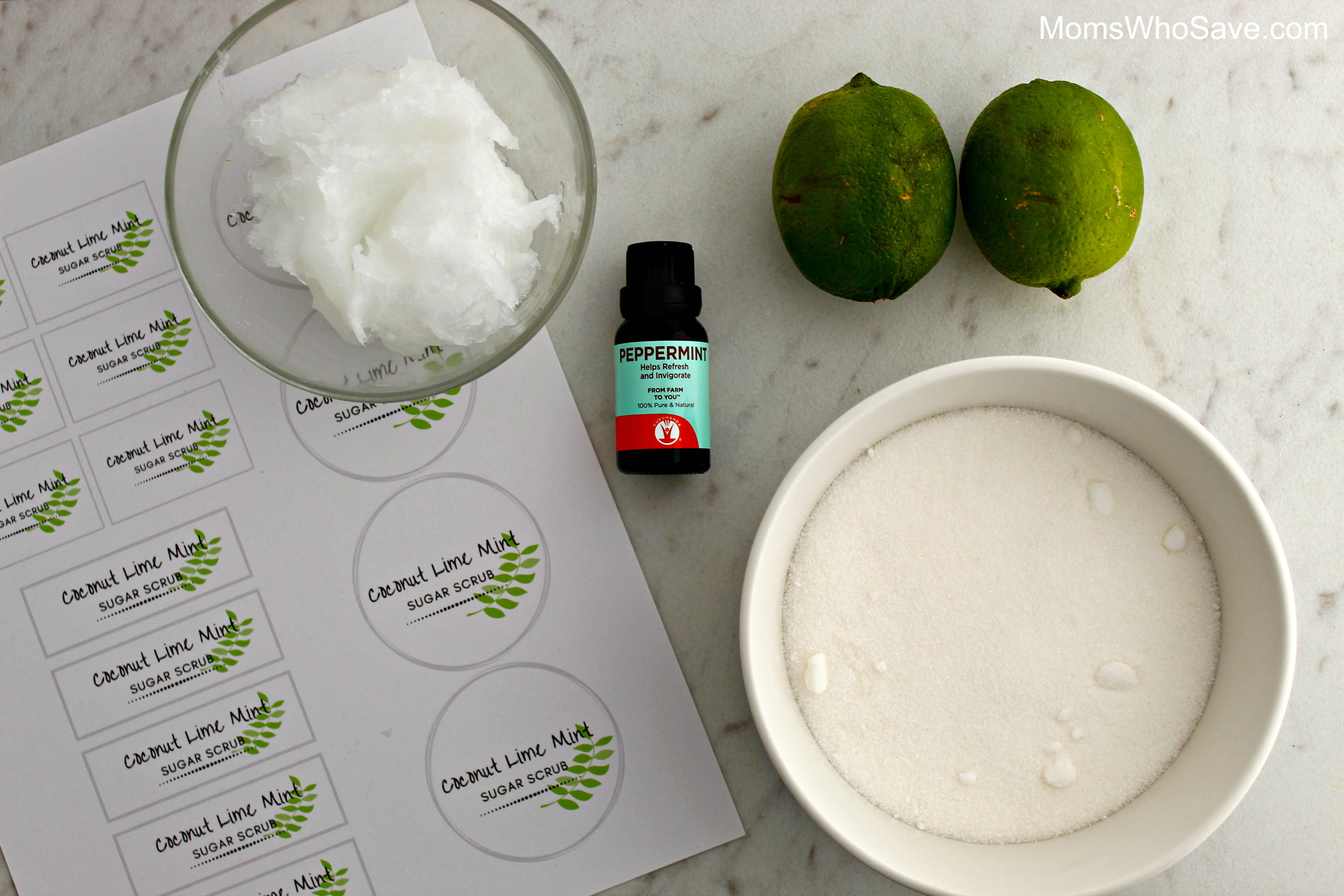 diy coconut and lime sugar scrub