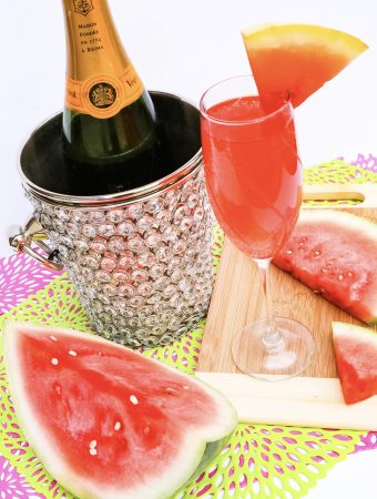 mimosas with watermelon