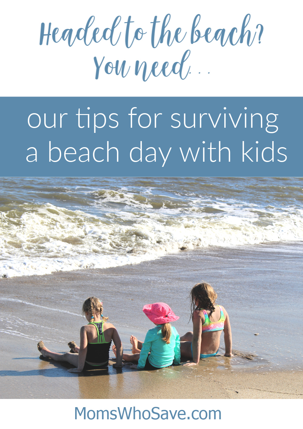 going to the beach with kids