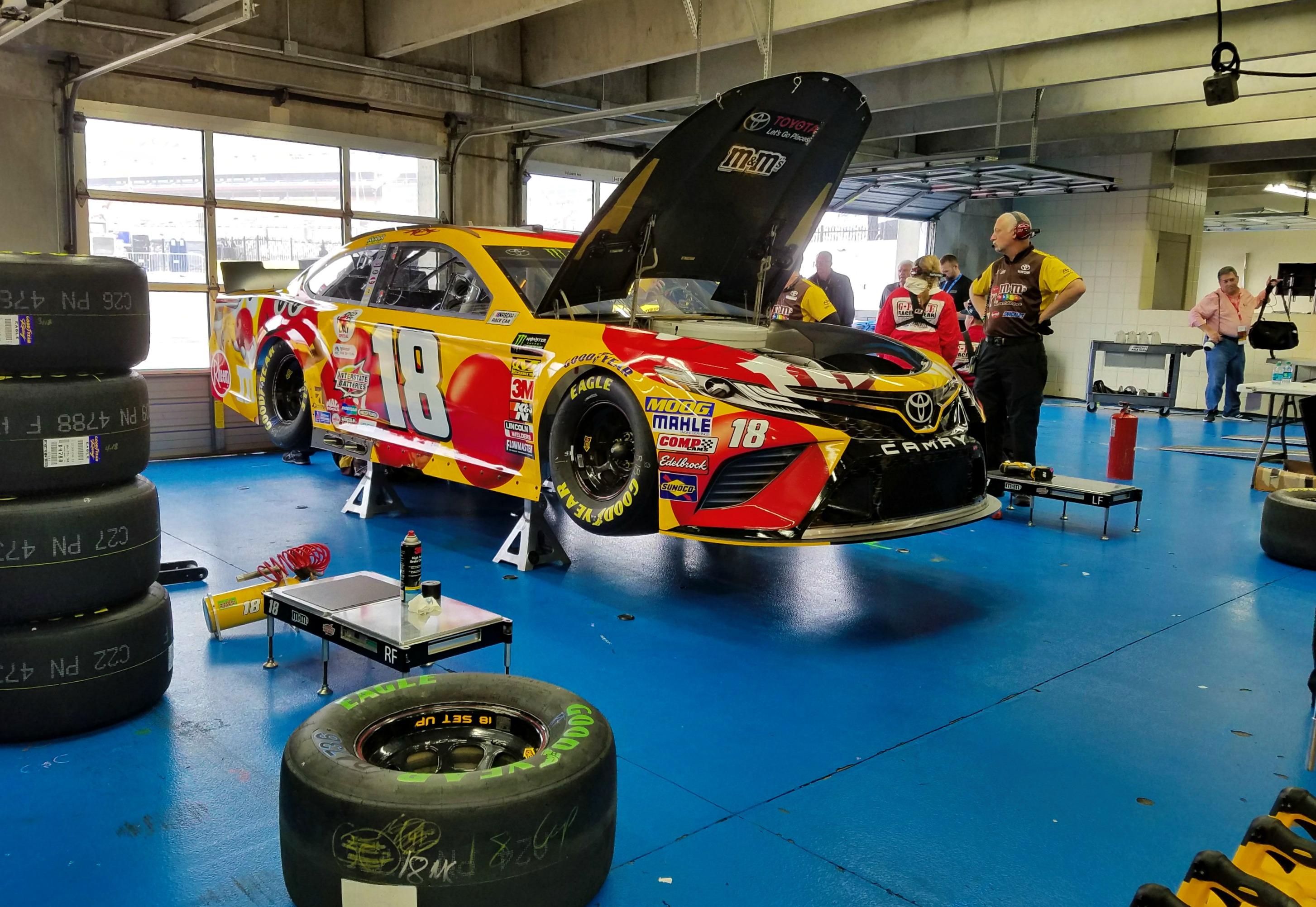 Charlotte Motor Speedway garage