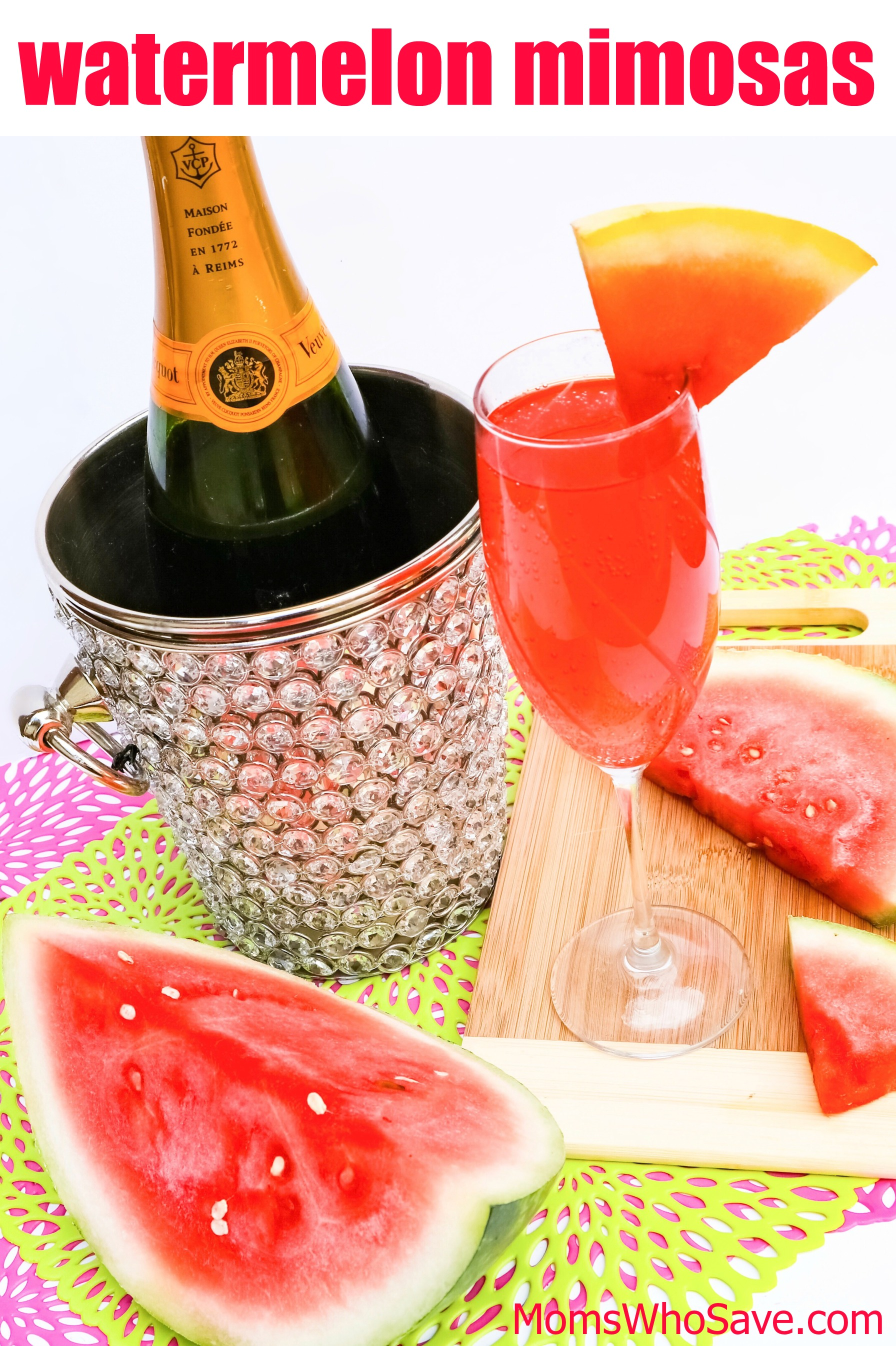 easy watermelon mimosas recipe